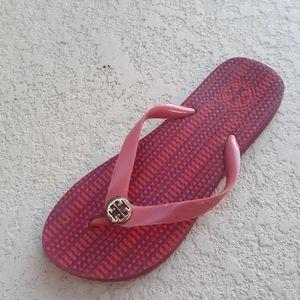 TORY BURCH TT Charm Pink Flip Flop